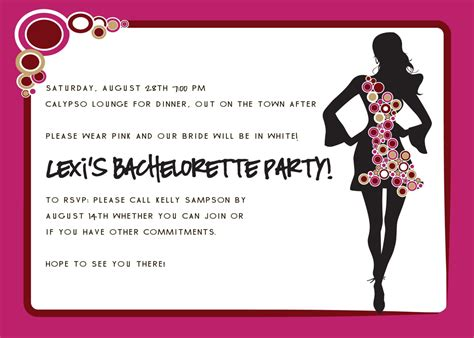 bachelorette invites templates invitations bachelorette invitation wording