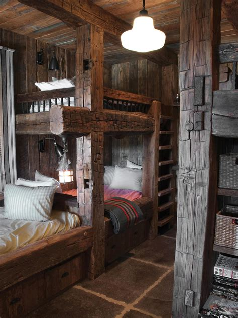 Editor S Pick 15 Cozy Cabin Designs Home Remodeling Cabin Bunk Beds For