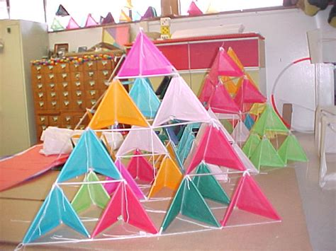 How To Make A Tetrahedron Out Of Paper - make kite with straws images