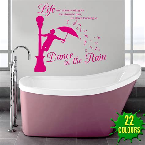 dancing in the bathroom dance in the rain wall stickers decals