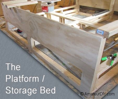 build platform bed storage underneath quick woodworking projects