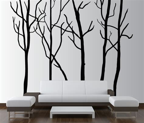 vinyl wall decal forest tree large wall tree decal forest vinyl sticker removable 1115 innovativestencils