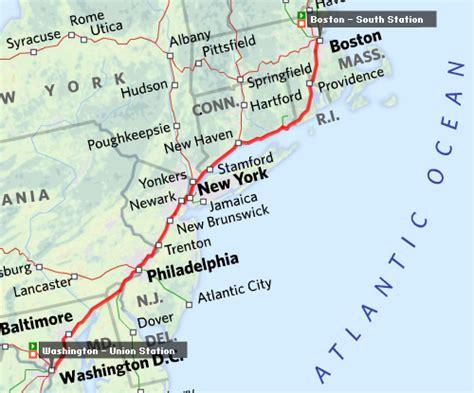 map usa new york boston usa itinerary