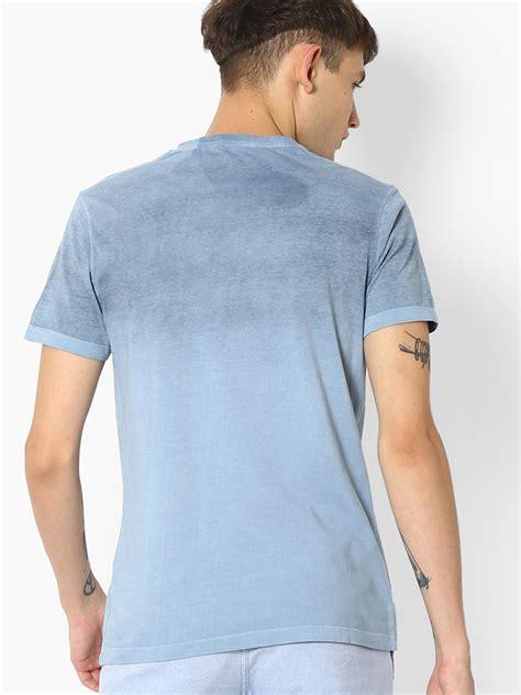 spyker shirt spyker blue shaded cotton plain t shirt g3 mts4593