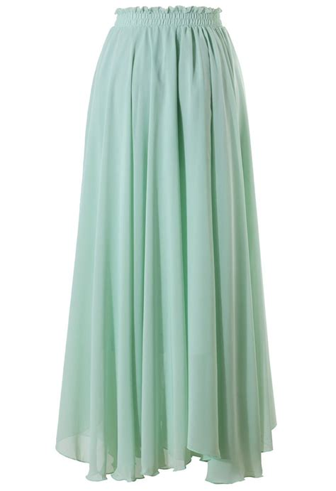 light green maxi skirt my style
