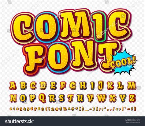 font pop art creative high detail comic font alphabet stock vector