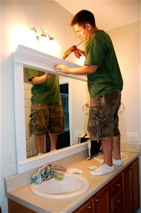 make your own bathroom mirror frame how to frame a mirror for a dramatic upscale look one