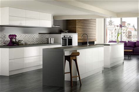 grey kitchen insel kitchen white acrylic cabinets high gloss laminate