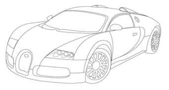 How To Draw Bugatti Bugatti Veyron Lineart By Whitesylver On Deviantart