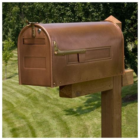 stevenson locking post mount copper mailbox mailboxes