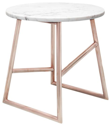 Marble Side Table Algedi Table Copper Marble Contemporary Side Tables And End Tables By Iacoli Mcallister