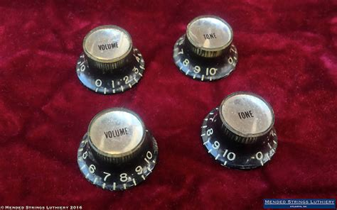 Es 335 Knobs by 1963 Gibson Reflector Knobs Black Silver Sg Standard Es