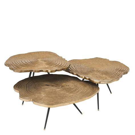 coffee table set of 3 quercus brass coffee tables set of 3 shop now