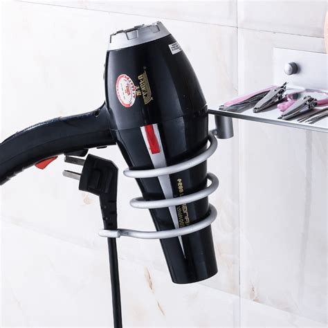 hair dryer bathroom storage caddy hair dryer storage organizer rack comb holder wall mounted