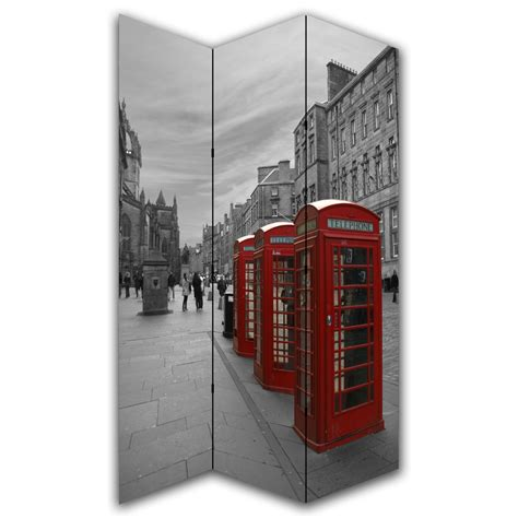 Canvas Room Divider Phone Box Canvas Privacy Screen Folding 3 Panel Room Divider