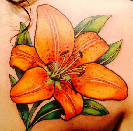 tiger lily flower tattoo meaning thin blog