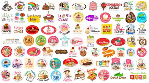 design label kue kering template manis desain stiker java s cake