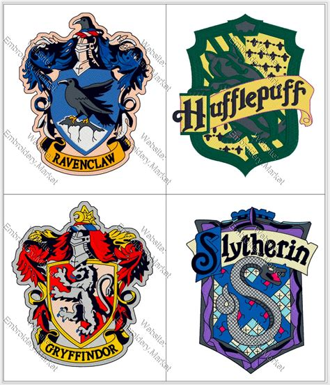 harry potter embroidery designs harry potter ravenclaw gryffindor hufflepuff slytherin