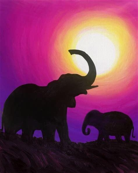 paint nite elephant paint nite elephant meadow