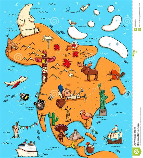 usa map history geography illustrated map of america stock vector