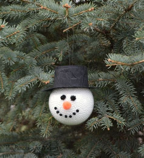 hometalk frosty the snowman homemade ornament