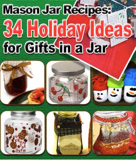 crafts hobbies mason jar recipes 34 holiday ideas for