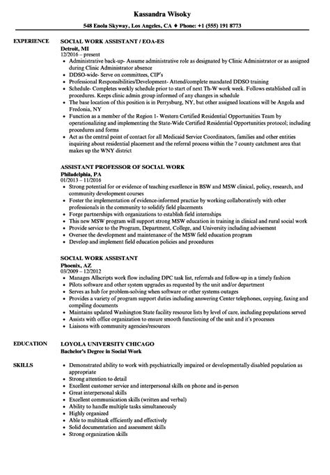 social work resume example 79 images social work professional