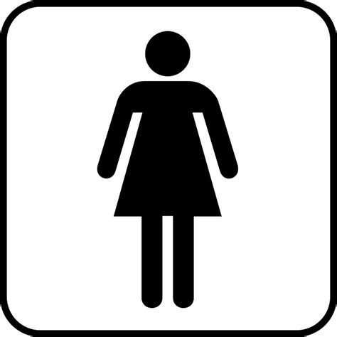 clipart donne free vector graphic wc toilet sign free