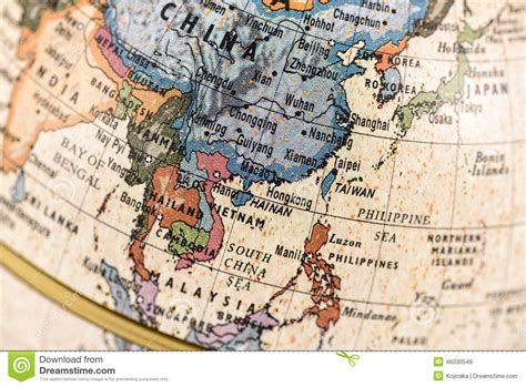 globe map of asia globe east and southeast asia stock photo image 46030549