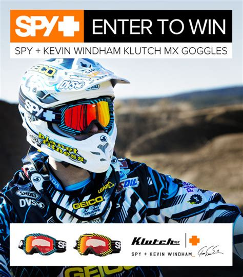 spy motocross goggles kevin windham autographed spy mx goggle giveaway