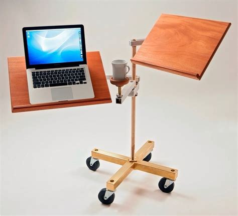 a cool sit or stand up laptop desk trusper