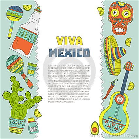 mexican id card template mexico card template stock vector image 50878238