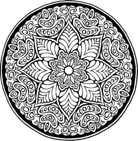 coloring pages designs mandala free printable coloring pages of cool designs