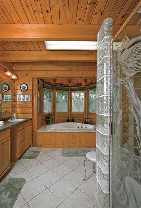 log cabin master bathrooms photos of a custom log home in rural florida