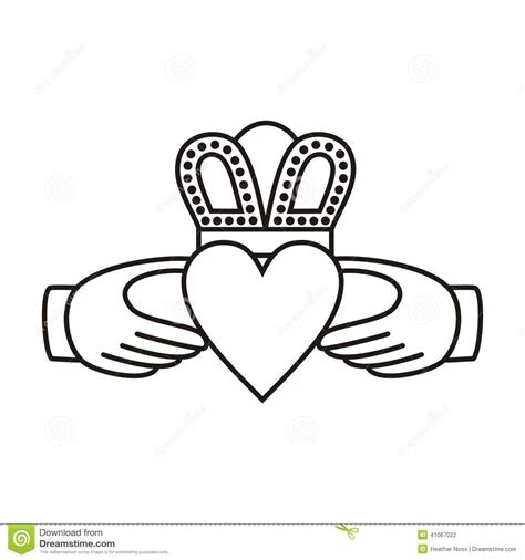 images of love symbol in hands claddagh irish love symbol vector illustration