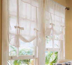 Tie Up Window Curtains Pottery Barn Tie Up Curtain Shade Pink Gingham 1pr Ebay