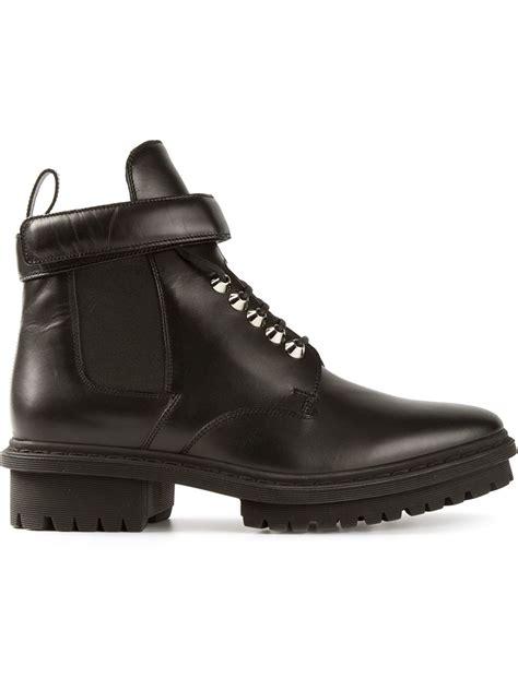 balenciaga boots mens balenciaga lace up boots in black for lyst