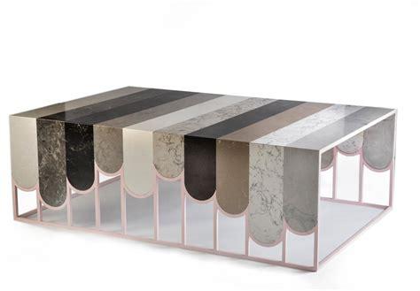 design milk table caesarstone commissions swatch table by dor carmon studio