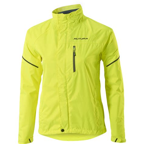 yellow waterproof cycling wiggle altura women s nevis iii waterproof jacket