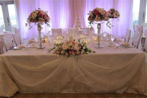 wedding head table decorations beautiful bride
