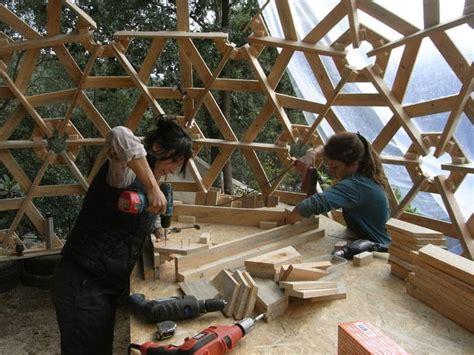 diy wooden dome built  pallets