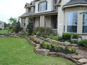 front yard landscaping with rocks front yard landscape with stack moss rock and