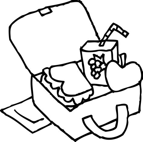 free coloring pages of drawing lunch box