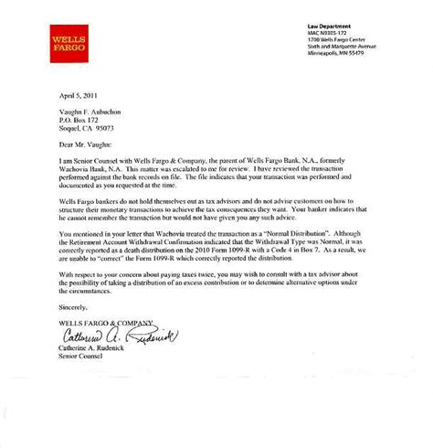 Bank Error Letter To Customer fargo center autos post