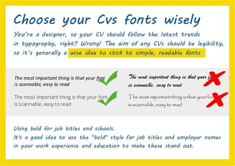 how to create the design cv tips