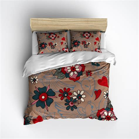 tattoo bedding tattoo style duvet bedding sets ink and rags
