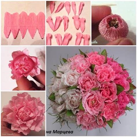 How To Make Flower Made Of Crepe Paper - how to make easy crepe paper chocolate flower