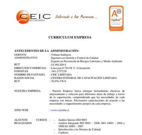 Modelo Curriculum Vitae Empresarial Plantilla De Curriculum Empresarial Modelo Curriculum