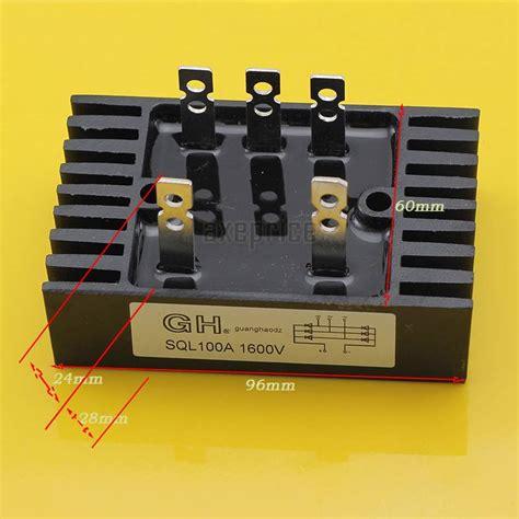 diode bridge specifications 3 phase diode rectifier bridge sql100a 1600v 100a 1600v 1 6kv new ebay