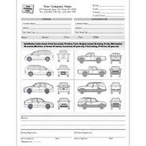 Car Rental Handover Form Condition Report Forms Automobile Forms Standard Forms